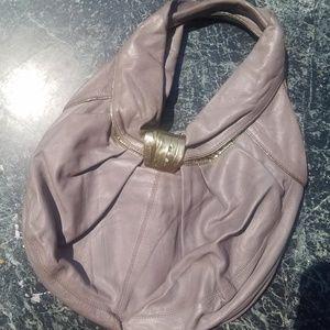 Kooba hobo handbag purse Purple Gray Gold SAMPLE